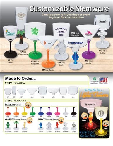 Pick A Bowl Pick A Stem Customizable Stemware - Made in the USA