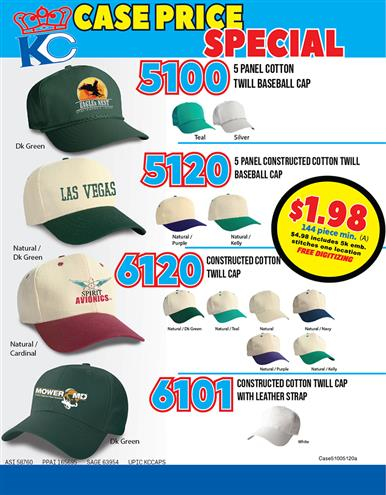 Cotton Twill Caps Special