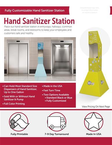 Fully customizable hand sanitizer station