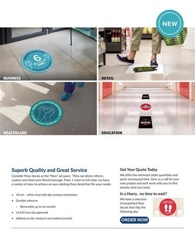 Custom Floor Decals Your Customers Will Walk All Over
