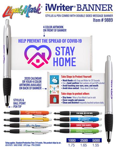 iWriter Banner - Stylus Pen With Message Banner