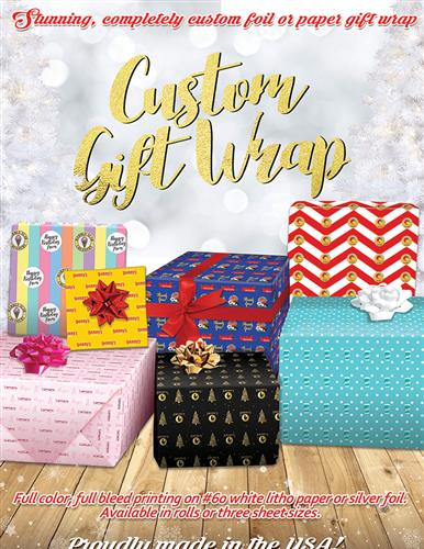 Custom Gift Wrap - Foil or Paper