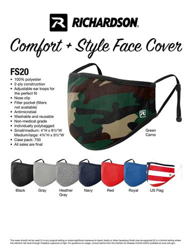 NEW Richardson FS20 Mask 2 sizes 8 colors complete protection