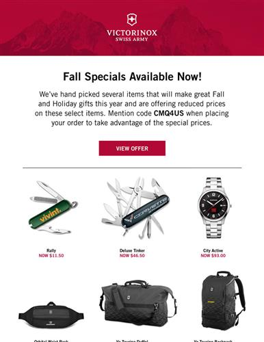 New Specials for Fall are Here