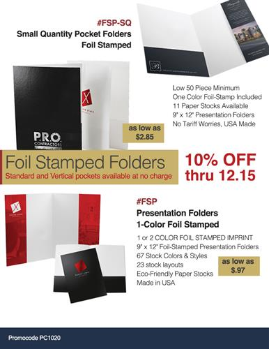 Presentation Folder Sale Save 10 NOW
