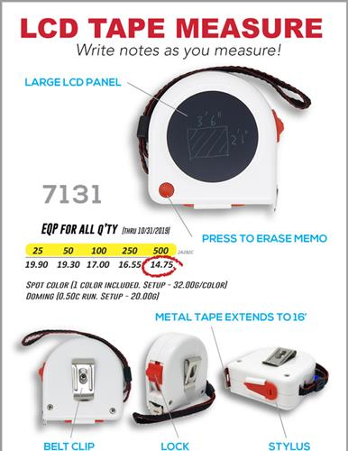 LCD Tape Measure NEW PRODUCT SPECIAL