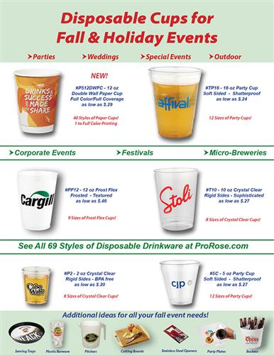 Low Priced Disposable Cups for Fall Events